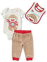 Baby Starters Baby Boys 3-12 Months Sock Monkey Be Awesome 3-Piece Layette Set