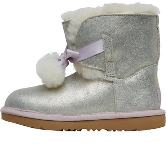 UGG Girls Gita Metallic Boots Gold