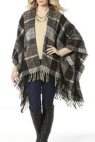 Ganz Plaid Fringe Shawl