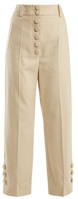 Joseph Young Felt High-waisted Trousers - Womens - Cream