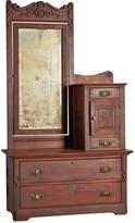 Rejuvenation Victorian Gentleman's Dresser w/ Weathered Mirror