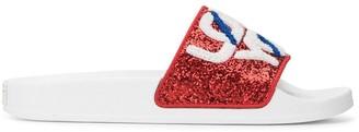 RED Valentino RED(V) sequin slides