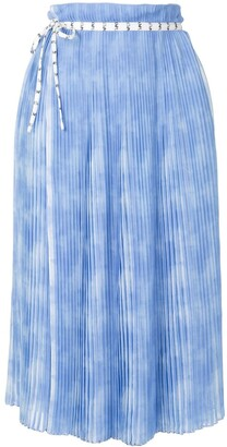PortsPURE Marble Effect Wrap Pleated Skirt
