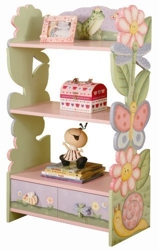 Teamson Bookshelf with Drawer - Magic Garden