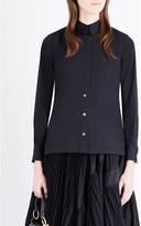 Sacai Pleated-back woven shirt