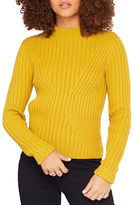 Miss Selfridge Ribbed Mock-Turtleneck Sweater