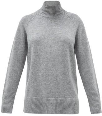 Cefinn - Mock-neck Wool-blend Sweater - Womens - Dark Grey