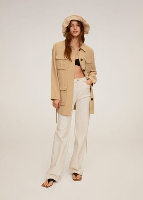 MANGO Pocket safari-style trench beige - L - Women