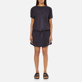 Maison Scotch Women's Straight Fit Zipper Dress Blue