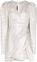 Rotate pouf sleeve mini dress