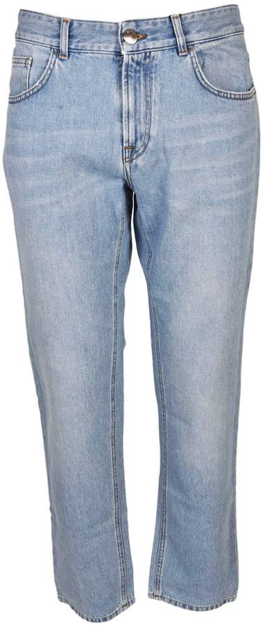 Versace Versus Lion Patch Tapered Jeans