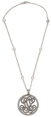 Kenneth Jay Lane Fancy Crystal Round Pendant Necklace