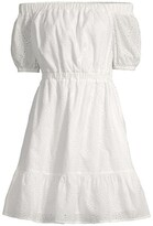 Thumbnail for your product : MICHAEL Michael Kors Floral Eyelet Off-The-Shoulder Dress