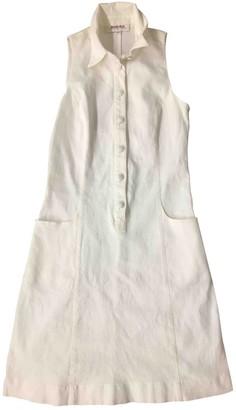 Rodier White Cotton - elasthane Dress for Women