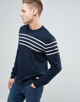 Jack & Jones Originals 100% Cotton Jumper With Stripe