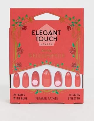 Elegant Touch X Paloma Faith False Nails - Femme Fatale-Red