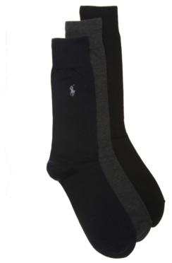 Polo Ralph Lauren Solid Men's Crew Socks - 3 Pack