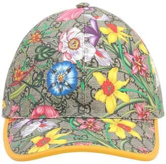 Gucci Floral Gg Supreme Baseball Hat