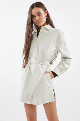 Eggie Cloud Burst Faux Leather Mini Dress