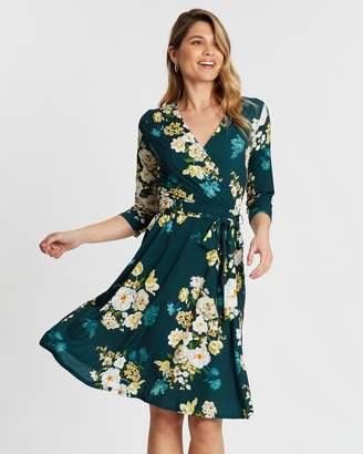 Wallis Winter Bouquet Fit-and-Flare Dress