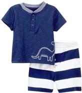 Offspring Dino Shirt & Shorts Set (Baby Boys)