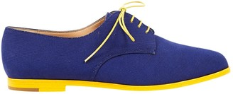 Manolo Blahnik Blue Cloth Lace ups
