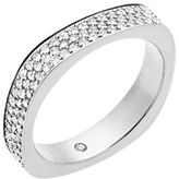 Michael Kors Brilliance Cubic Zirconia Stainless Steel Studded Ring