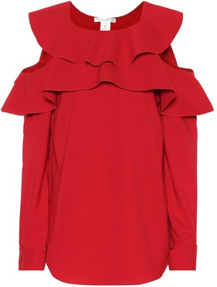 Oscar de la Renta Stretch silk crepe top