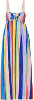 Mara Hoffman Tie-front Striped Organic Linen Maxi Dress - Blue