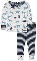 Hatley Pup Play Long Sleeve Mini Pajama (Infant)