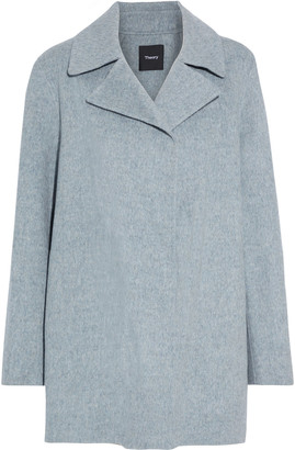 Theory Overlay Wool And Cashmere-blend Felt Coat