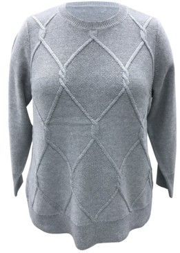 Karen Scott Plus Size Cable-Knit Pullover Sweater, Created for Macy's