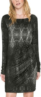 Desigual Long Sleeves Printed Mini Dress