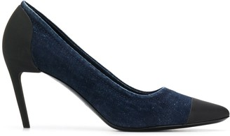 Diesel High-heel pumps in flocked denim