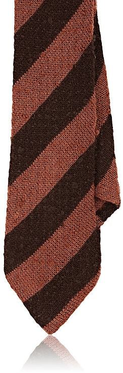 Alexander Olch MEN'S STRIPED COTTON SLUB JERSEY NECKTIE