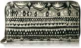 Sakroots Large Wallet Wallet, Black and White One World
