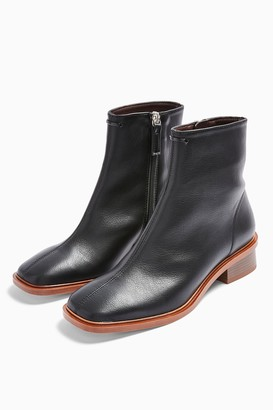 Topshop Womens Considered Valley Vegan Black Flat Boots - Black