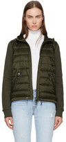 Moncler Green Down Jersey Hooded Jacket
