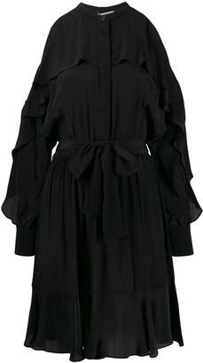 Twin-Set Cold-Shoulder Dress