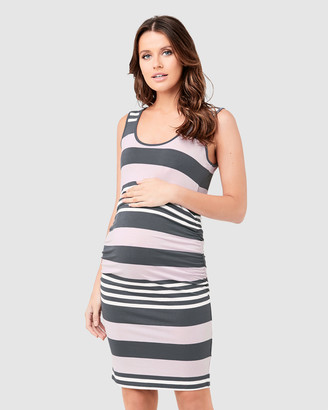 Ripe Maternity Stripe Nursing Dress