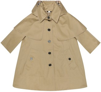 BURBERRY KIDS Cotton gabardine trench coat