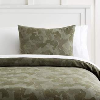 Pottery Barn Teen Distressed Camo Duvet Cover, Full/Queen, Gray