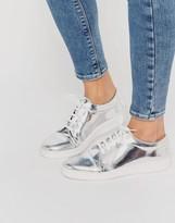 Miista Adalynn Silver Metallic Sneakers