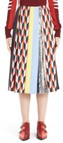 Emilio Pucci Women's Pleated Mixed Media Skirt