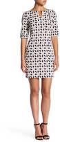 Laundry by Shelli Segal Elbow Length Sleeve Printed Dress (Petite)