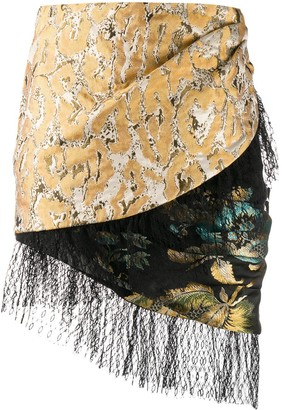Christian Pellizzari Asymmetric Tapestry Skirt