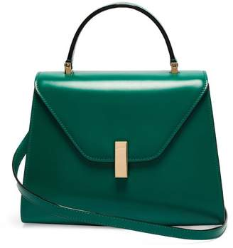 Valextra Iside Medium Leather Bag - Womens - Green
