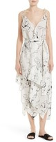 Diane von Furstenberg Women's New Scarf Hem Silk Midi Dress