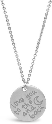 Sterling Forever Sterling Silver 'Love You to the Moon & Back' Pendant Necklace