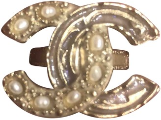 Chanel CC Gold Metal Rings